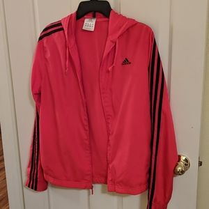 Adidas windbreaker jacket with hood
